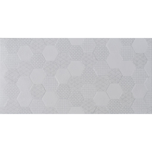 30x60cm Grafen White Hexagon wall tile RM-8297-Canakkale Seramik - Kale-ceramicplanet.co.uk