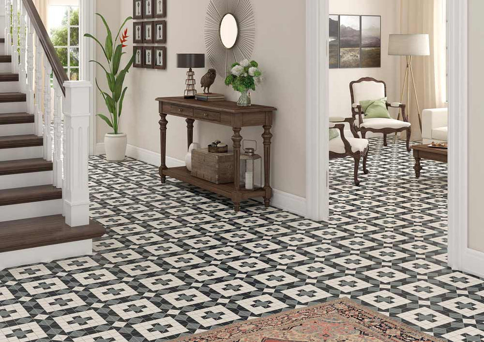 31.6x31.6cm Harrogate Pattern floor tile-Vives-ceramicplanet.co.uk