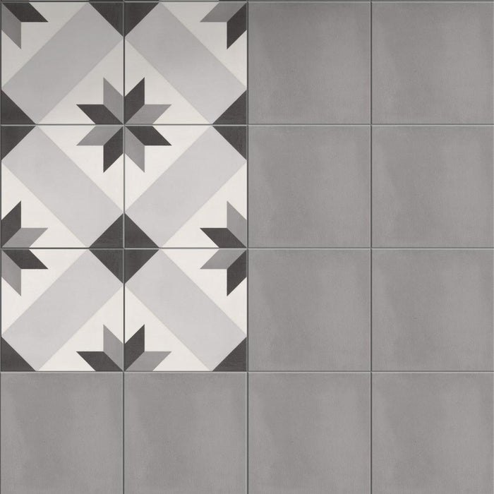 18.6x18.6cm Marrakech Dark Grey tile-Golden Tile-ceramicplanet.co.uk