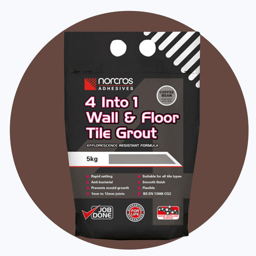 Norcros 4 into 1 Flexible Floor & Wall Grout COFFEE BEAN BROWN-Norcros-ceramicplanet.co.uk