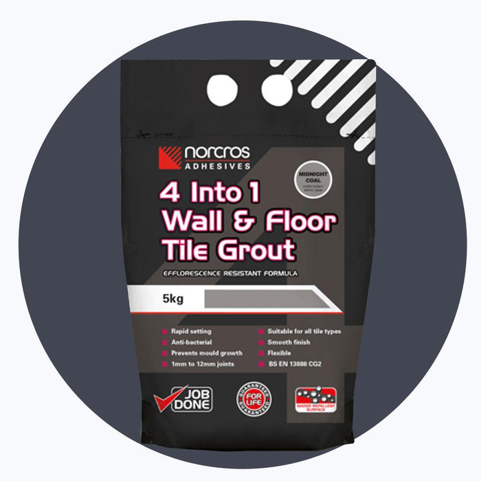 Norcros 4 into 1 Flexible Floor & Wall Grout MIDNIGHT COAL-Norcros-ceramicplanet.co.uk