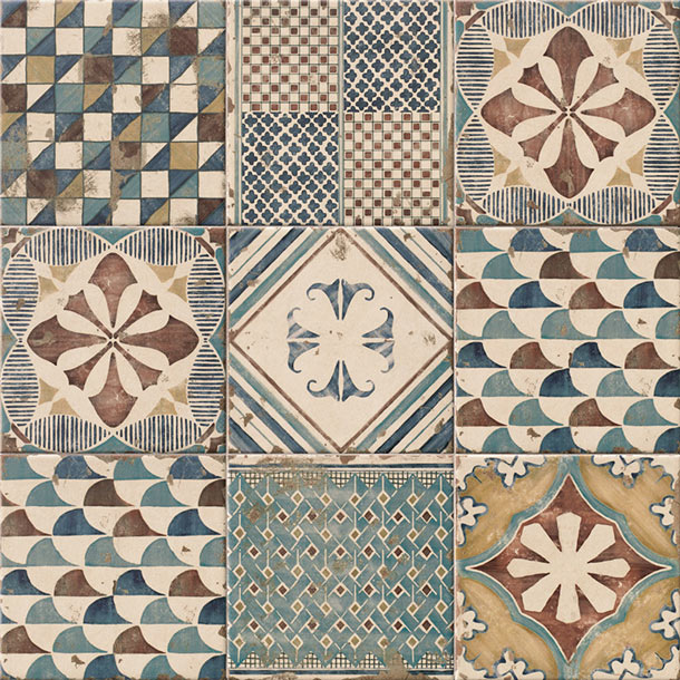 20x20cm Padua Pavimento mix pattern tile set-Mainzu Ceramica-ceramicplanet.co.uk