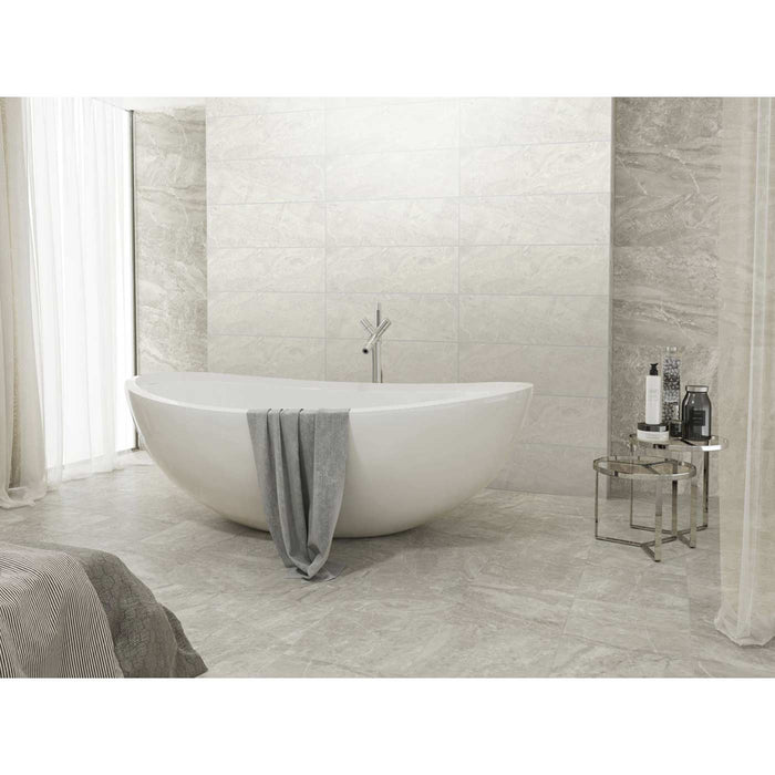 33.3x100cm Sanford Grey Satin wall tile-Baldocer-ceramicplanet.co.uk