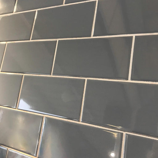 10x20cm Metro Sea Blue Flat Smooth Brick gloss tile-Karo Metro Ceramics-ceramicplanet.co.uk