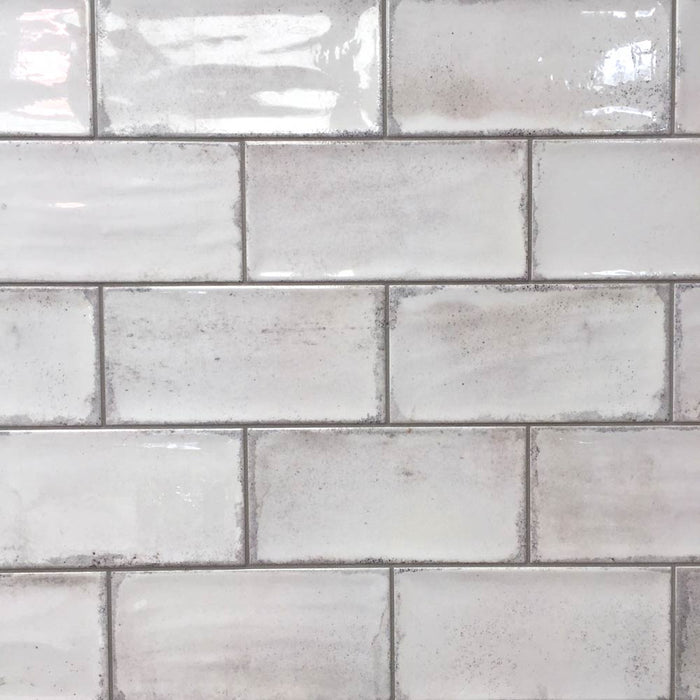 Vita White Brick Tile By Fabresa 10x20cm Ceramic Planet