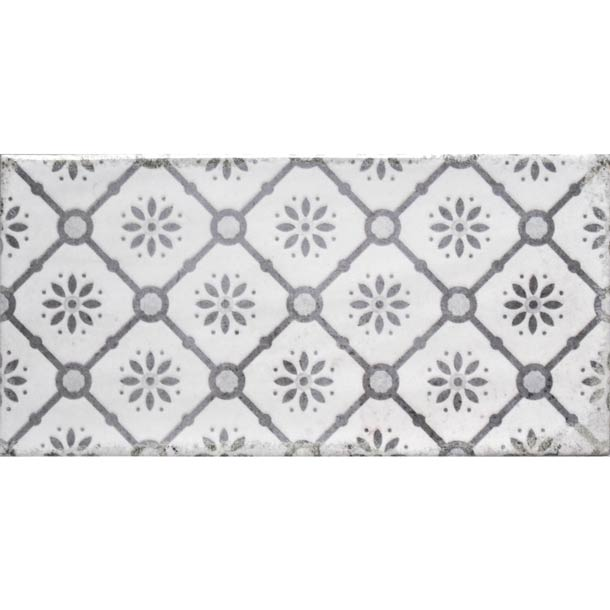 10x20cm Vita Nebbia Decor Brick tile-Fabresa-ceramicplanet.co.uk