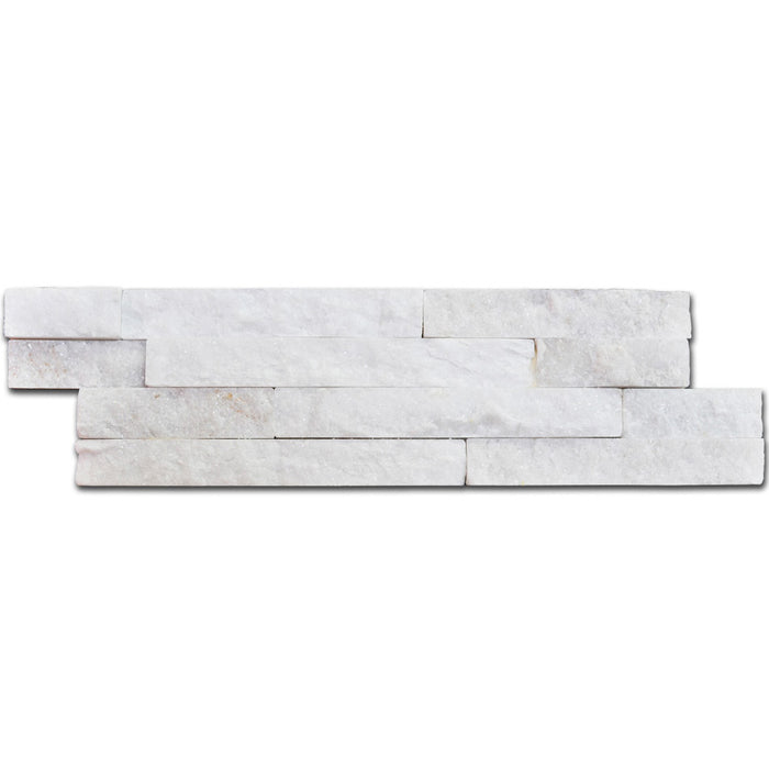10x40cm White Quartz Split Face tile-Crocodile-ceramicplanet.co.uk