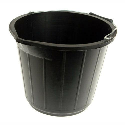 Black Builders Bucket-Silverline-ceramicplanet.co.uk