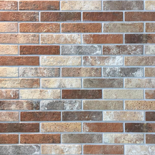 6x25cm London Brick Slip Multicolour tile-Rondine-ceramicplanet.co.uk