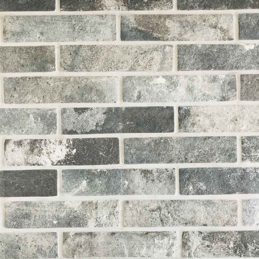 6x25cm London Brick Slip Charcoal tile-Rondine-ceramicplanet.co.uk