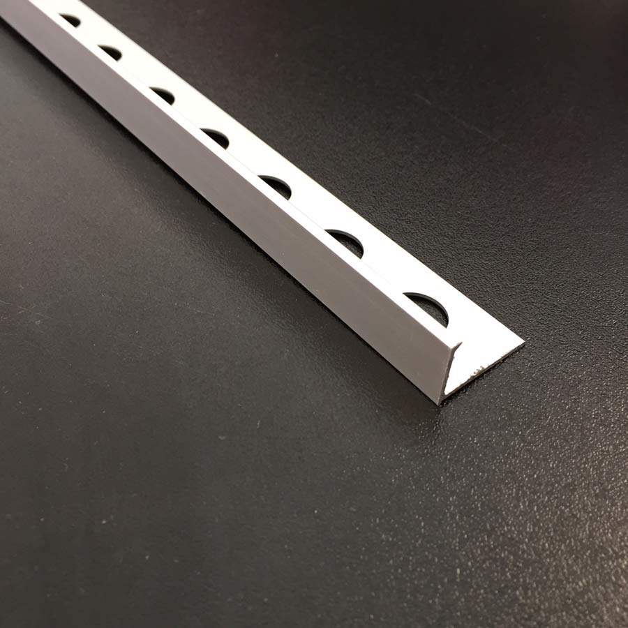 Matt 10mm Straight L-shape Tile Trim edging-Alumacer-ceramicplanet.co.uk