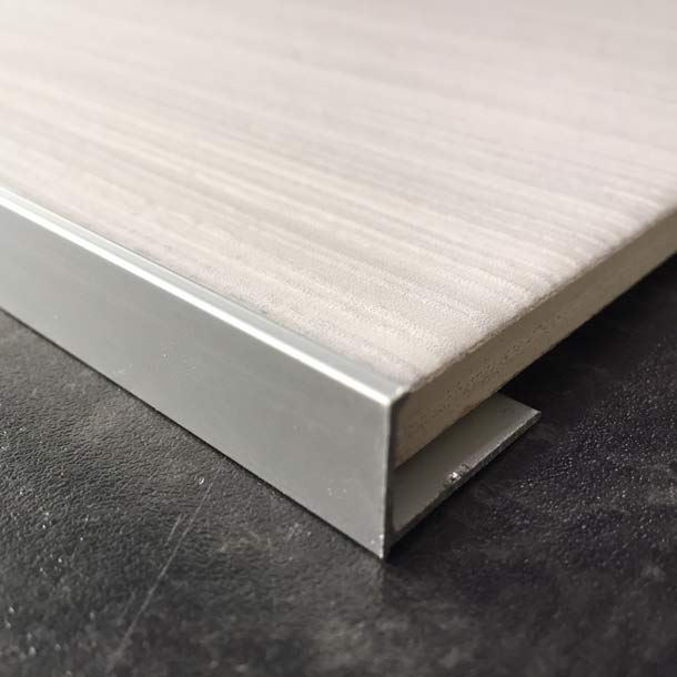 Matt 12mm Straight L-shape Tile Trim edging-Alumacer-ceramicplanet.co.uk
