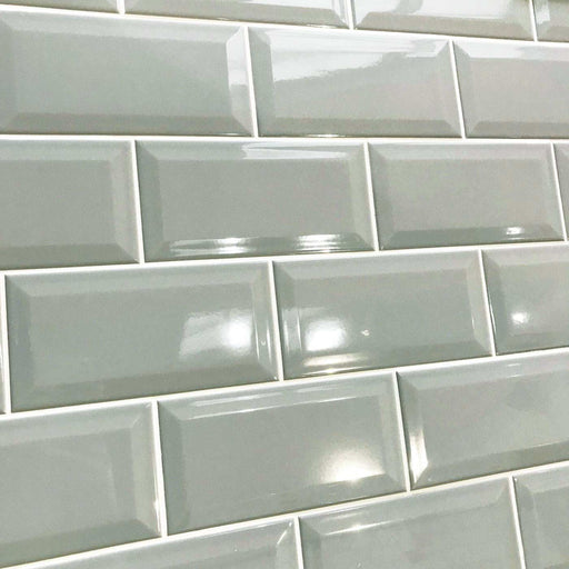 10x20cm Metro Grey Karo Gloss Bevelled Brick tile-Karo Metro Ceramics-ceramicplanet.co.uk