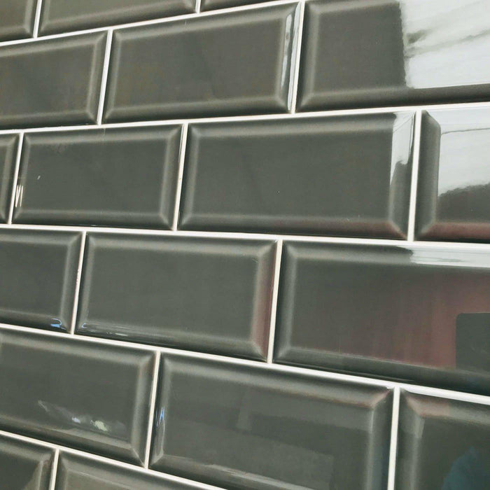 10x20cm Metro Marengo Grey Bevelled Brick tile-Salcamar Vilar-ceramicplanet.co.uk