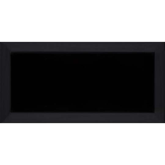 10x20cm Metro Black Gloss Bevelled Brick tile-Karo Metro Ceramics-ceramicplanet.co.uk