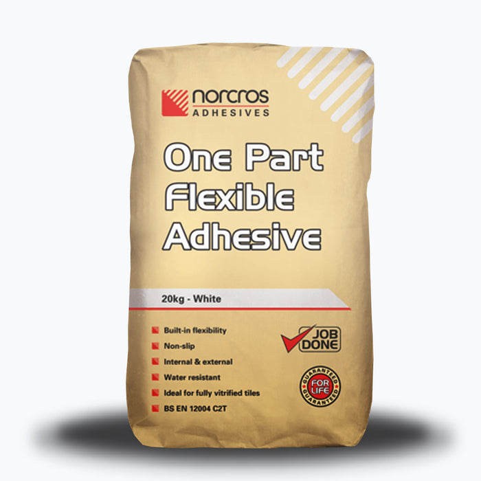 Norcros One Part Flexible White Tile Adhesive 20kg-Norcros-ceramicplanet.co.uk