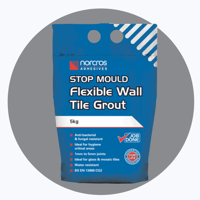 Norcros Stop Mould Flexible Steel Grey Wall Grout-Norcros-ceramicplanet.co.uk