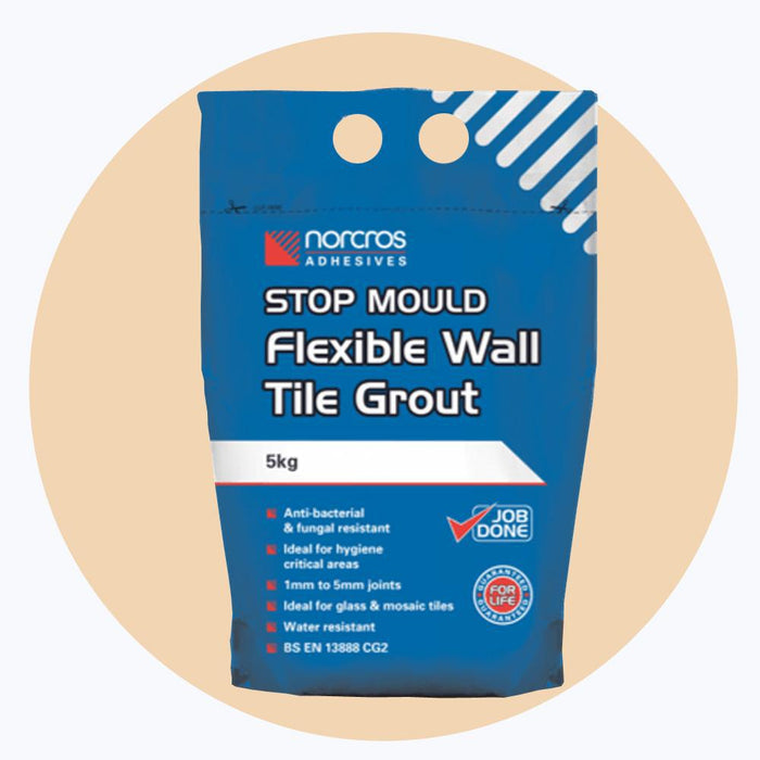 Norcros Stop Mould Flexible Blanched Almond Wall Grout-Norcros-ceramicplanet.co.uk