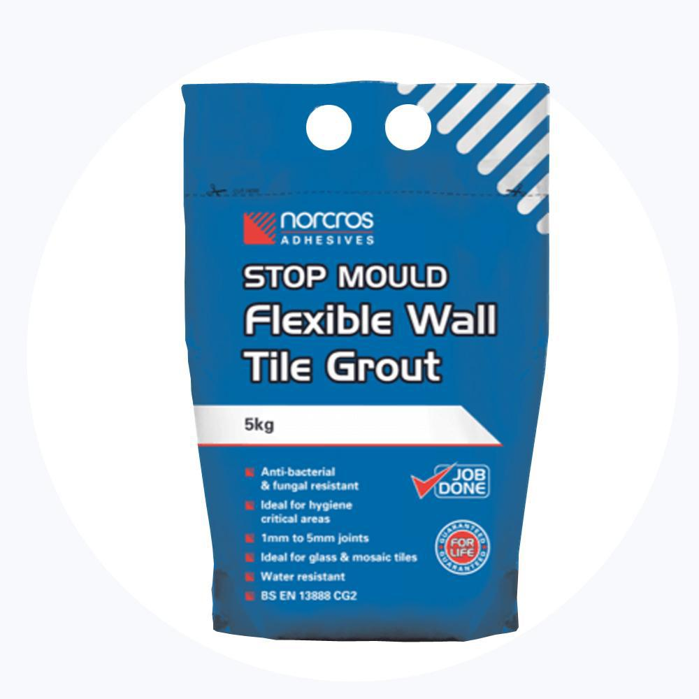 Norcros Stop Mould Flexible Arctic White Wall Grout-Norcros-ceramicplanet.co.uk