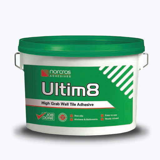 Norcros Ultim8 Tile to Walls D1T Ready Mix Adhesive 15kg-Norcros-ceramicplanet.co.uk