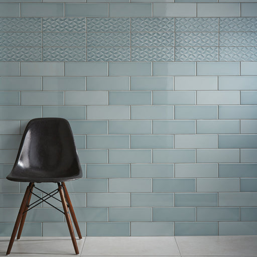 10x30cm Savoy Leaf gloss wall tile-Johnson Tiles-ceramicplanet.co.uk