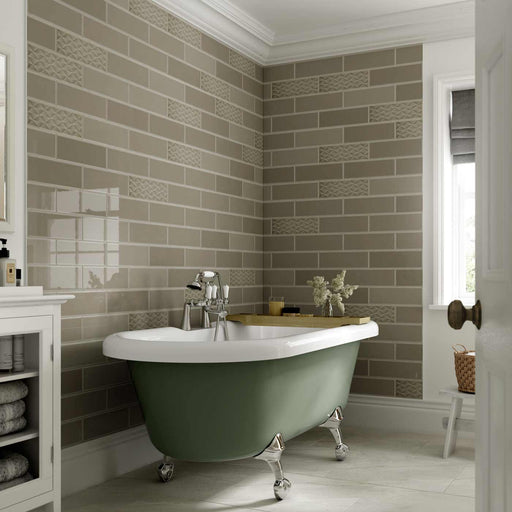10x30cm Savoy Pebble gloss wall tile-Johnson Tiles-ceramicplanet.co.uk