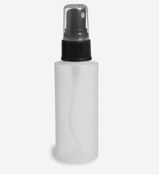 1 oz. Natural HDPE Plastic Cylinder Bottle with Sprayers
