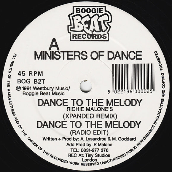 Ministers Of Dance - Dance To The Melody