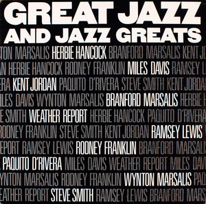 Various - Great Jazz And Jazz Greats