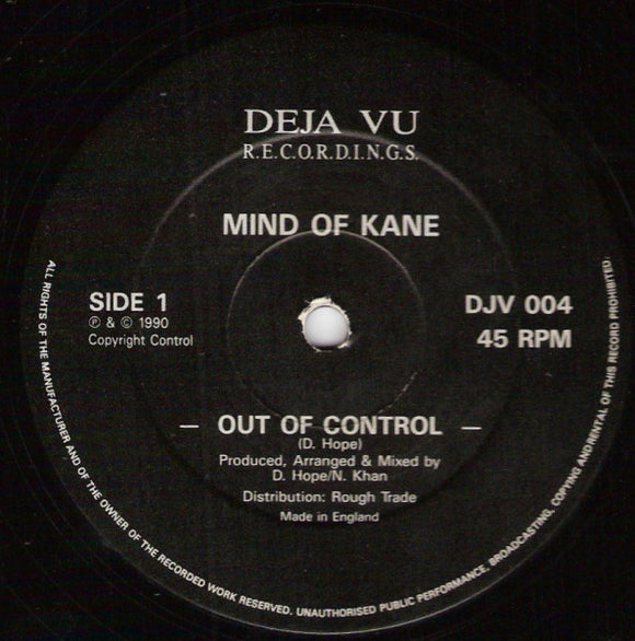 Mind Of Kane - Out Of Control
