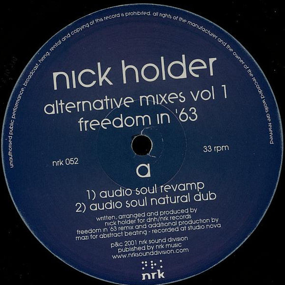 Nick Holder - Alternative Mixes Vol. 1