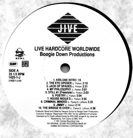 Boogie Down Productions - Live Hardcore Worldwide