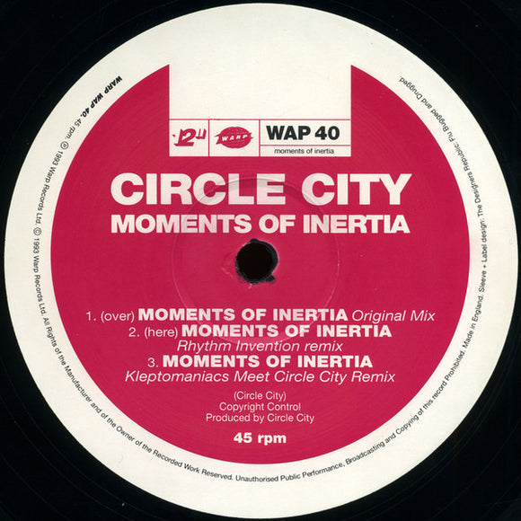 Circle City - Moments Of Inertia