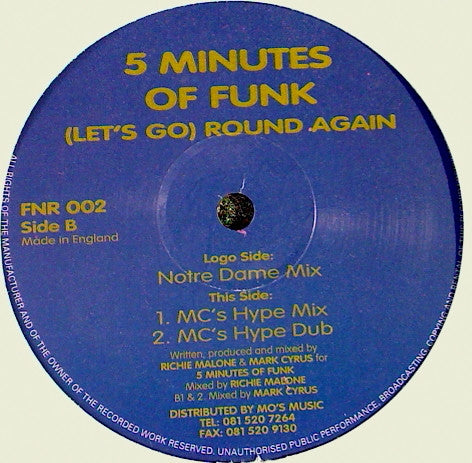 5 Minutes Of Funk - (Let's Go) Round Again