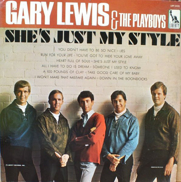 Gary Lewis & The Playboys - She's Just My Style