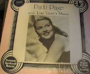 Patti Page - The Uncollected Patti Page With Lou Stein's Music