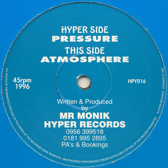 Mr Monik - Pressure / Atmosphere