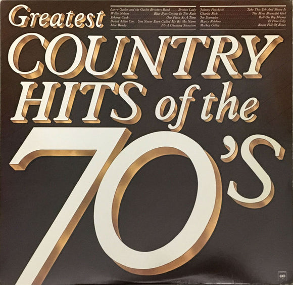 Various - Greatest Country Hits Of The 70's