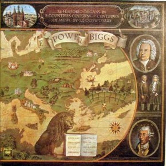 E. Power Biggs - 24 Historic Organs In 8 Countries Covering 7 Centuries