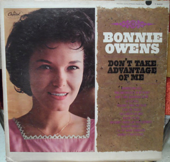 Bonnie Owens - Don't Take Advantage Of Me