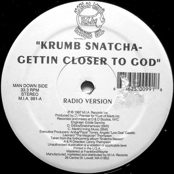 Krumb Snatcha - Gettin Closer To God
