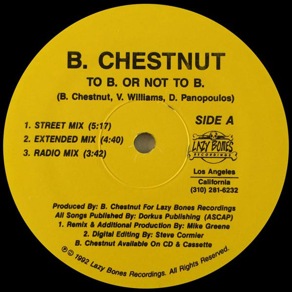 B. Chestnut - To B. Or Not To B.