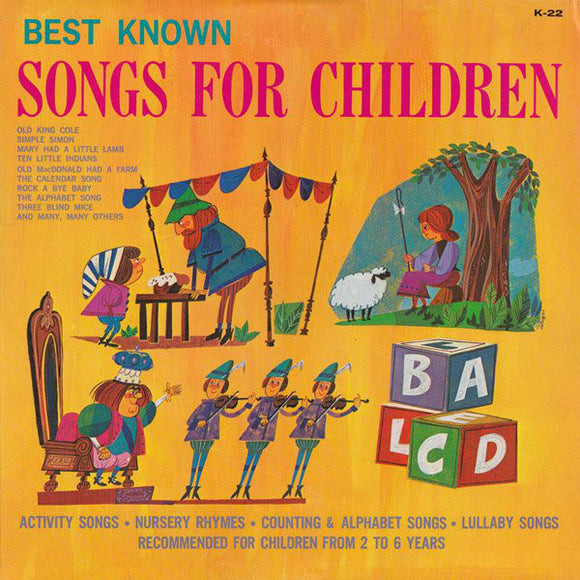 Unknown Artist - Best Known Songs For Children