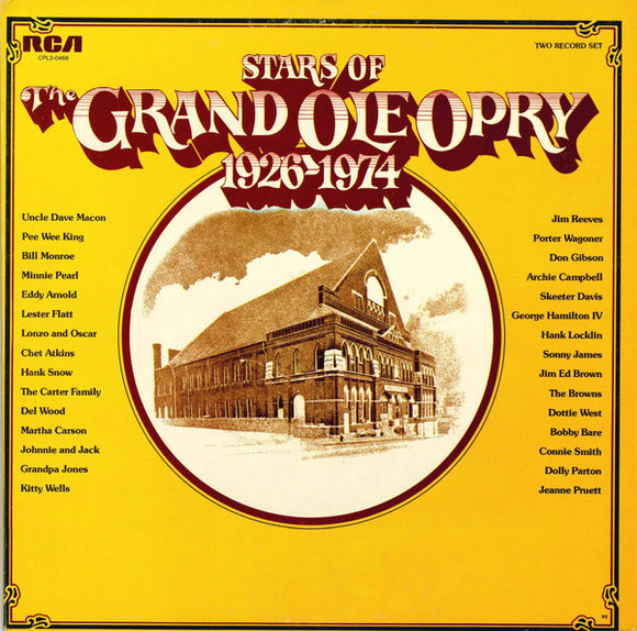 Various - Stars Of The Grand Ole Opry 1926-1974