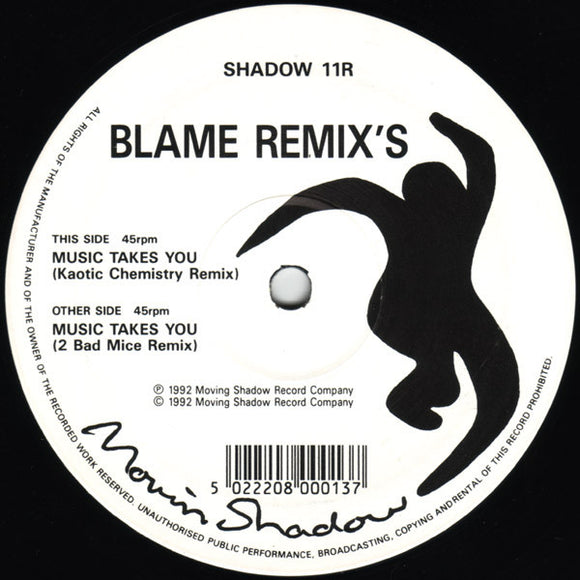 Blame - Music Takes You (Remix's)