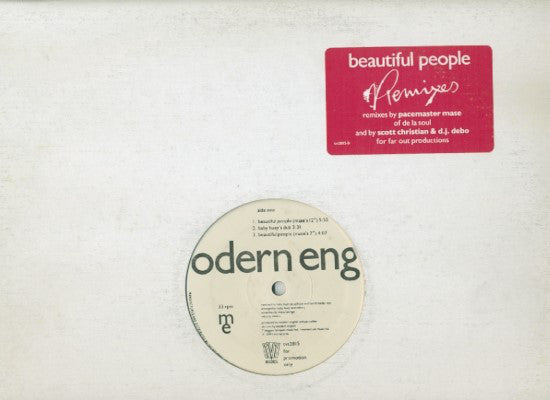 Modern English - Beautiful People (Remixes)