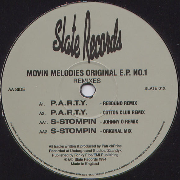 Movin' Melodies - Original E.P. No.1 (Remixes)