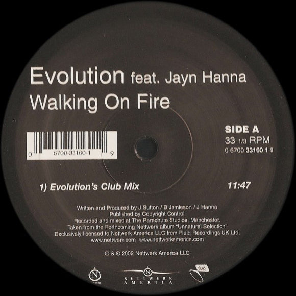 Evolution - Walking On Fire (Remixes)