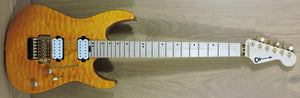 Charvel PRO-MOD DK24 HH FR M Mahogany with quilted maple. Dark Amber.