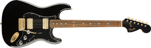Fender Ltd. Edition Mahogany Blacktop Stratocaster PF Black with Gold Hardware- DUE 2020